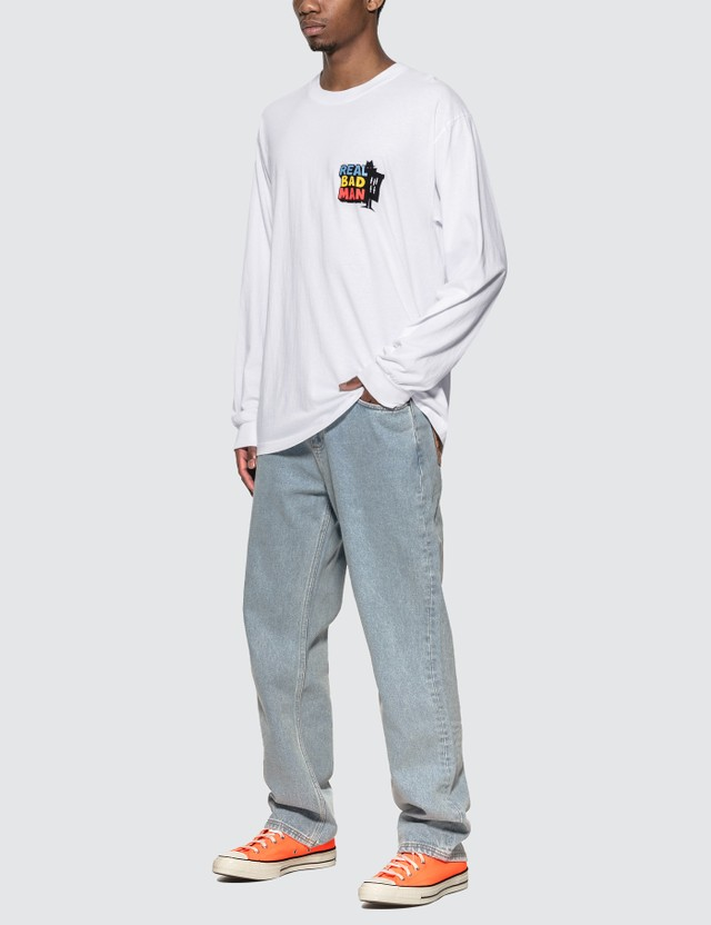 Real Bad Man Driver Long Sleeve T-Shirt White Men