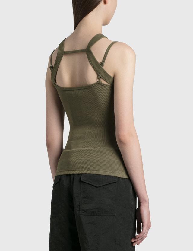 Dion Lee Rib Holster Tank Slate Green Women