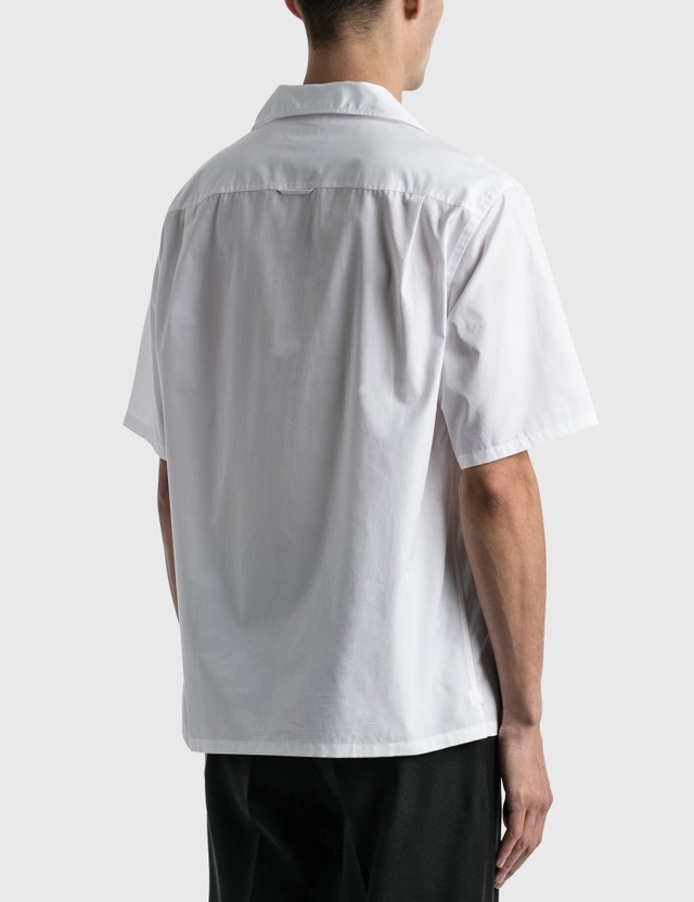 Prada Pocket Poplin Shirt Bianco Men