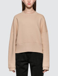 Alexander Wang.T Heavy French Terry Wide Neck Sweatshirt Picutre