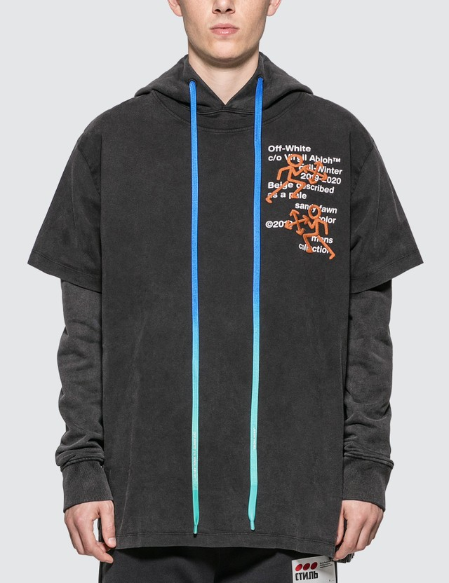 Off-White Pictogram Double Tee Hoodie