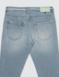 Off-White Bleach Slim Denim Nikel Jeans