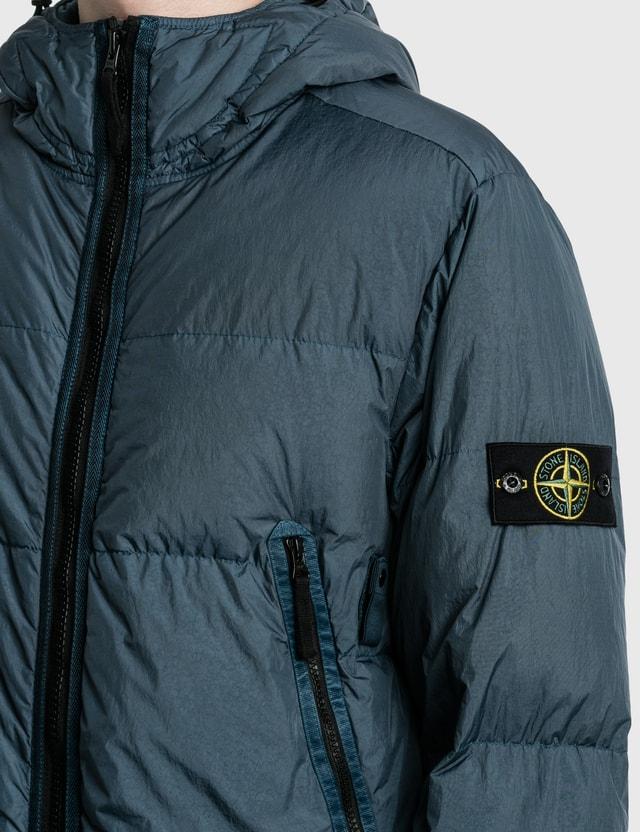 Stone Island Garment Dyed Crinkle Reps Padded Down Jacket Cobalt Blue Men