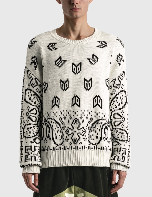 Rhude Lounge Sweater White/black Men