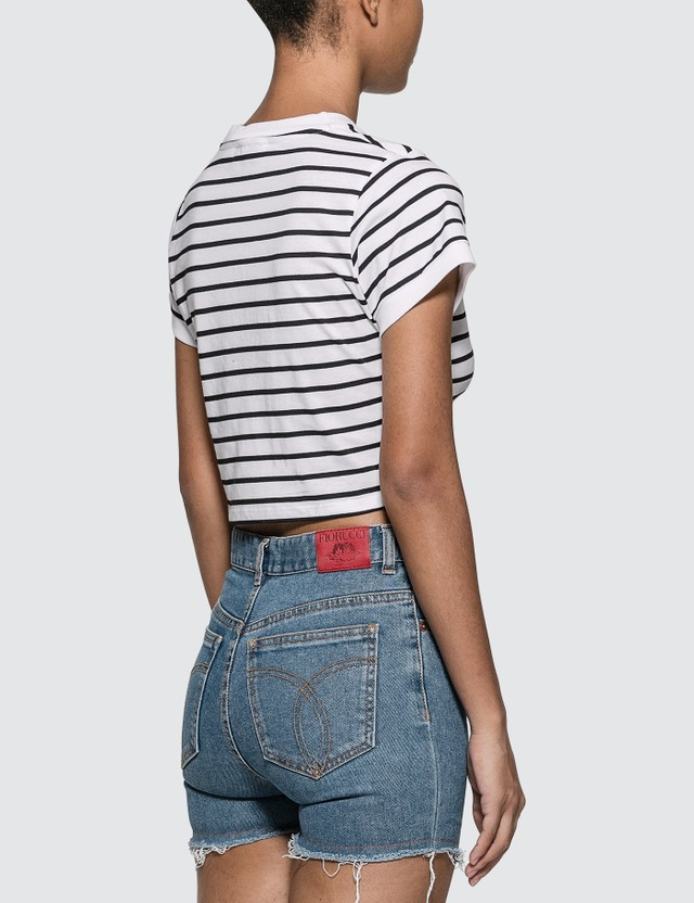 Fiorucci New Stripe Cropped T-shirt