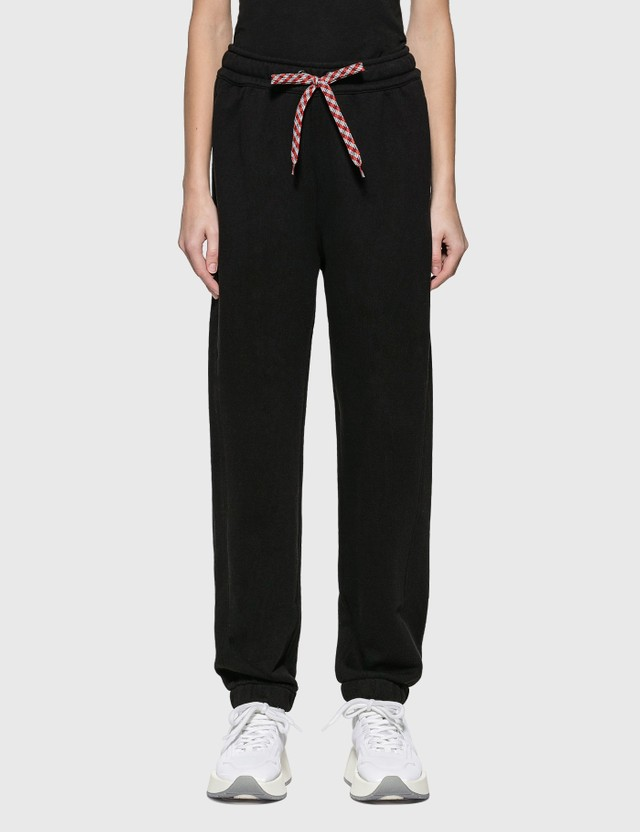 Burberry Embroidered Logo Cotton Trackpants