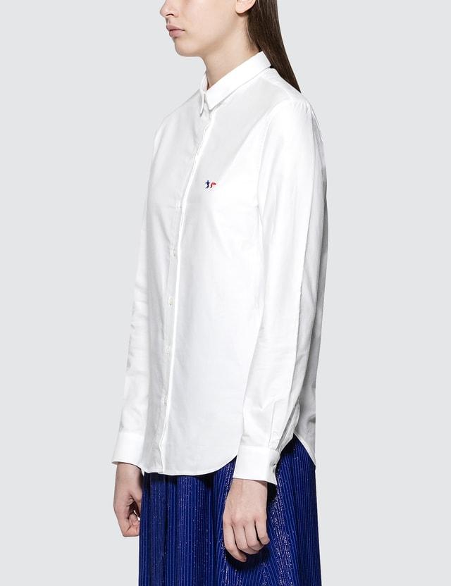 229dc894aaff Maison Kitsune - Oxford Tricolor Fox Patch Classic Shirt