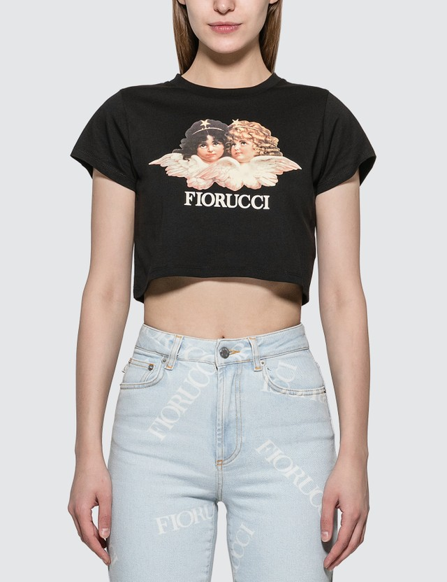 Fiorucci Vintage Angels Cropped T-shirt