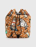 Burberry Shark Graphic Nylon Drawstring Bag Picutre