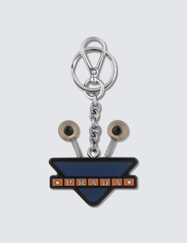 Prada Robot Eyes Key Chain