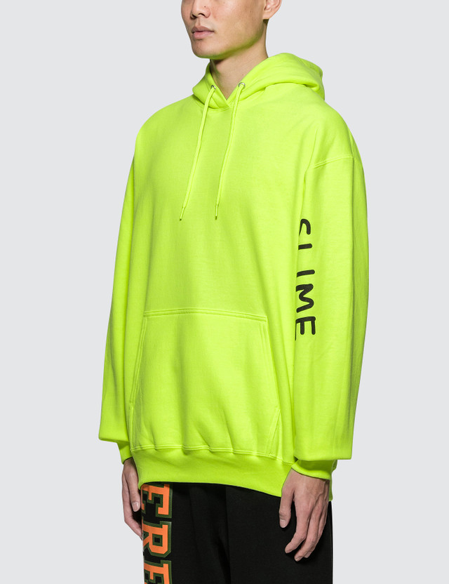 Pizzaslime Gang Logo Safety Green Hoodie