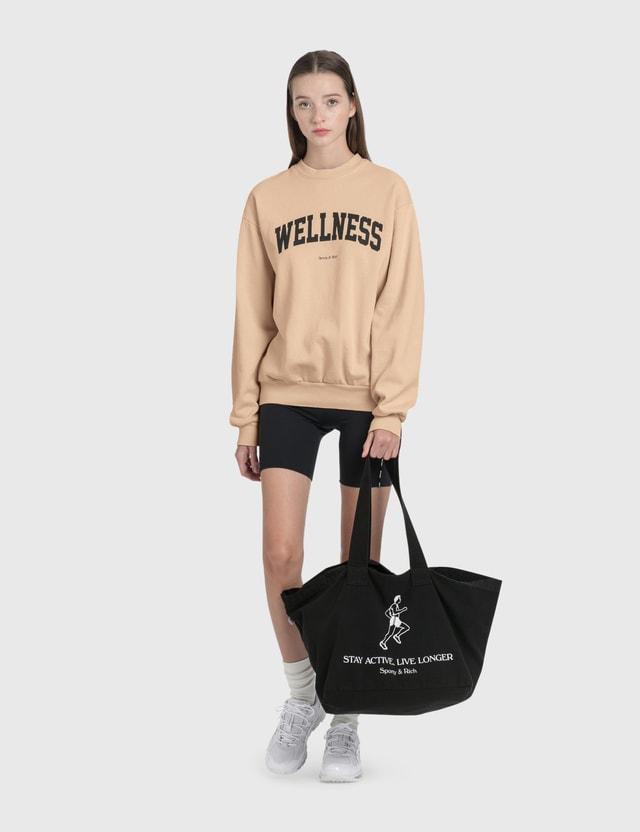 Sporty & Rich Live Longer Tote Bag Black/white Print Women