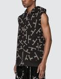 Mastermind World Allover Logo Print Sleeveless Sweatshirt