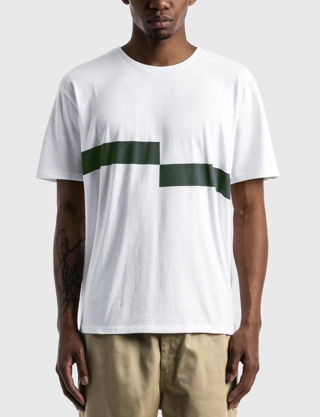 Nanamica Coolmax Graphic T-shirt White × Black Wk Men