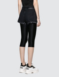 Unravel Project Stonewash Denim Chop Reversible Leggings Black Women