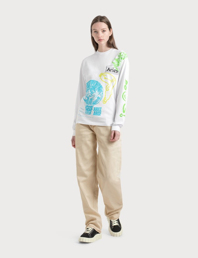 Aries French Monster Long Sleeve T-Shirt White Women