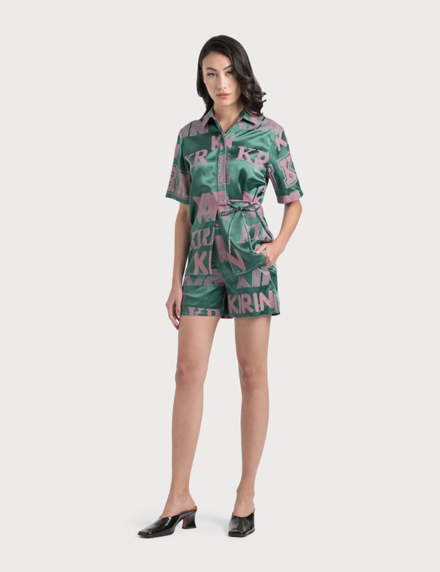 Kirin Big Typo Jacquard Fluid Shorts