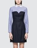 SJYP Lace Collar Stripe Dress Picture