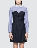 SJYP Lace Collar Stripe Dress Picutre