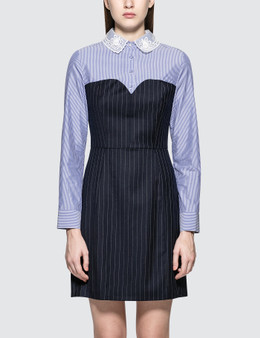 SJYP Lace Collar Stripe Dress