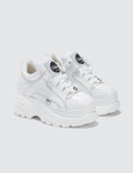 Buffalo London Buffalo Classic White Low-top Platform Sneakers in Patent