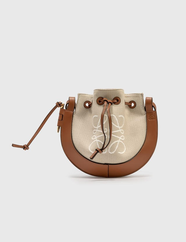 Loewe Small Horseshoe Anagram Bag Ecru/tan Women