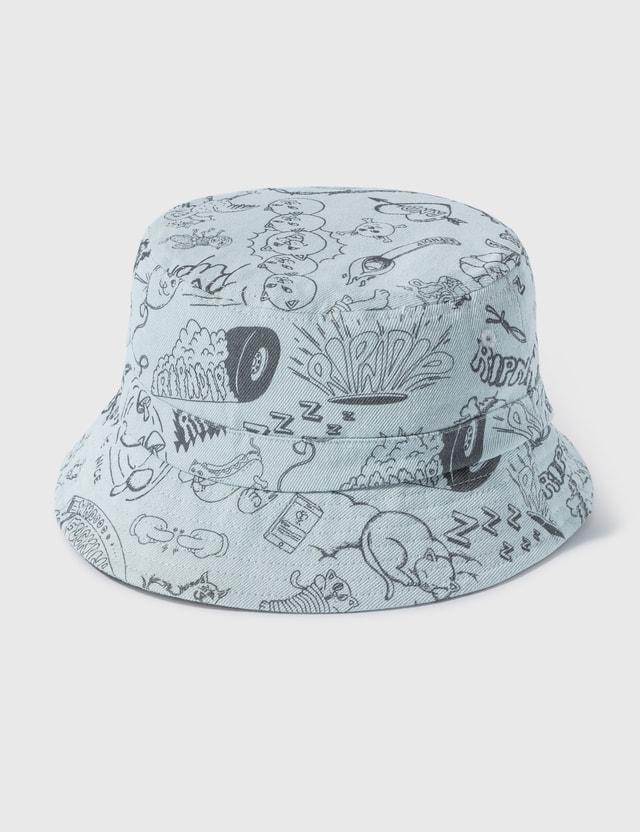 RIPNDIP Sharpie Bucket Hat Light Denim Wash Men