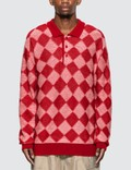 Needles Checkered Polo Sweater 사진