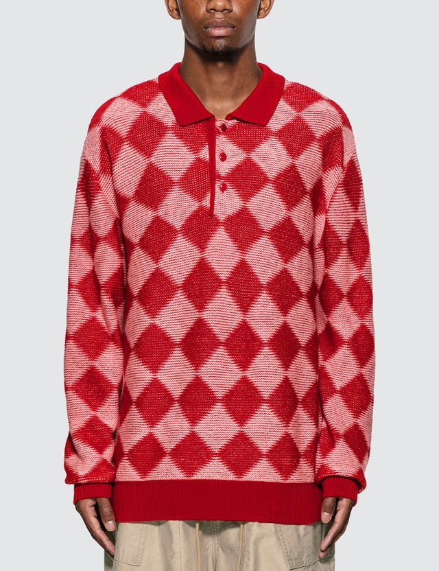 Needles Checkered Polo Sweater