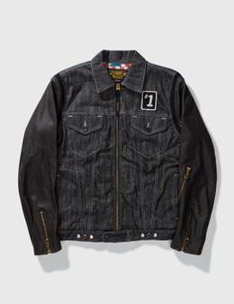 NEIGHBORHOOD Neighborhood Denim With Leather Sleeves Jacket