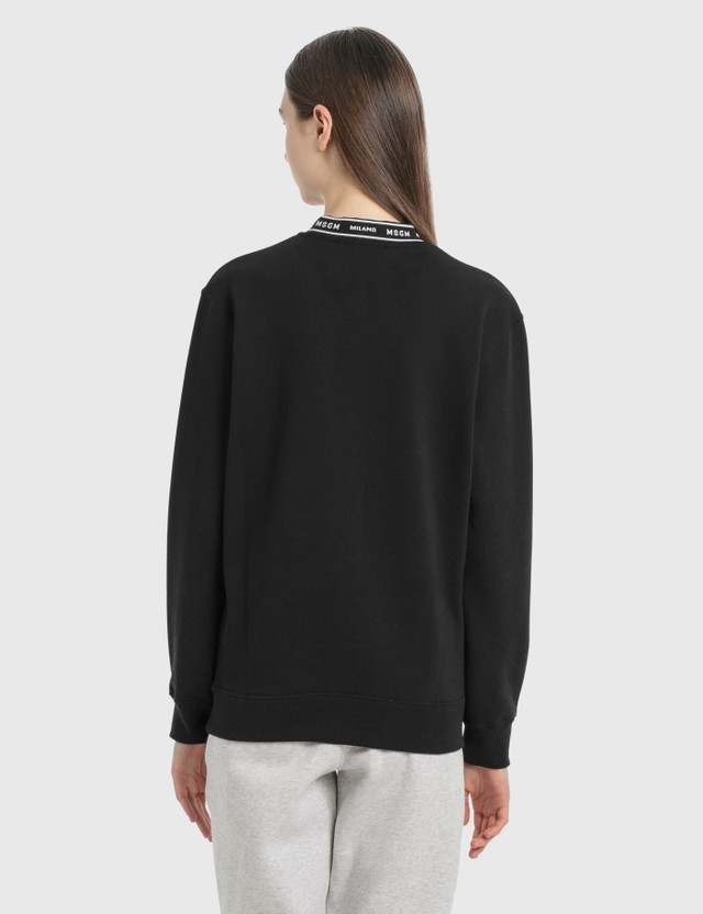 MSGM Logo Band Sweatshirt Black Women