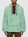 Acne Studios Faux-shearling Hooded Sweatshirt Picture