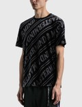 Mastermind World Velour Diagonal T-shirt Black X Charcoal Men