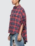 R13 Oversized Rolled-sleeve Plaid Shirt
