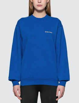 Sporty & Rich Classic Logo Crewneck Sweatshirt