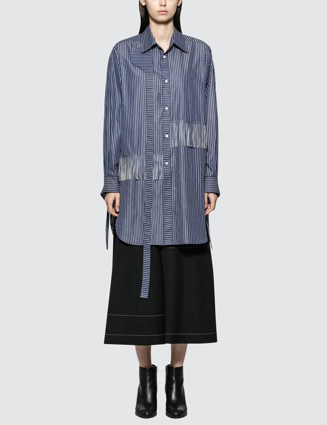 Loewe Strap Stripes Fringes Shirt