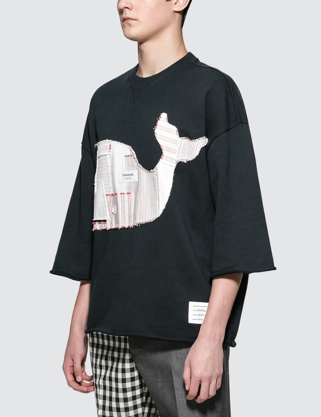 Thom Browne Boxy Cut Off S/S T-Shirt