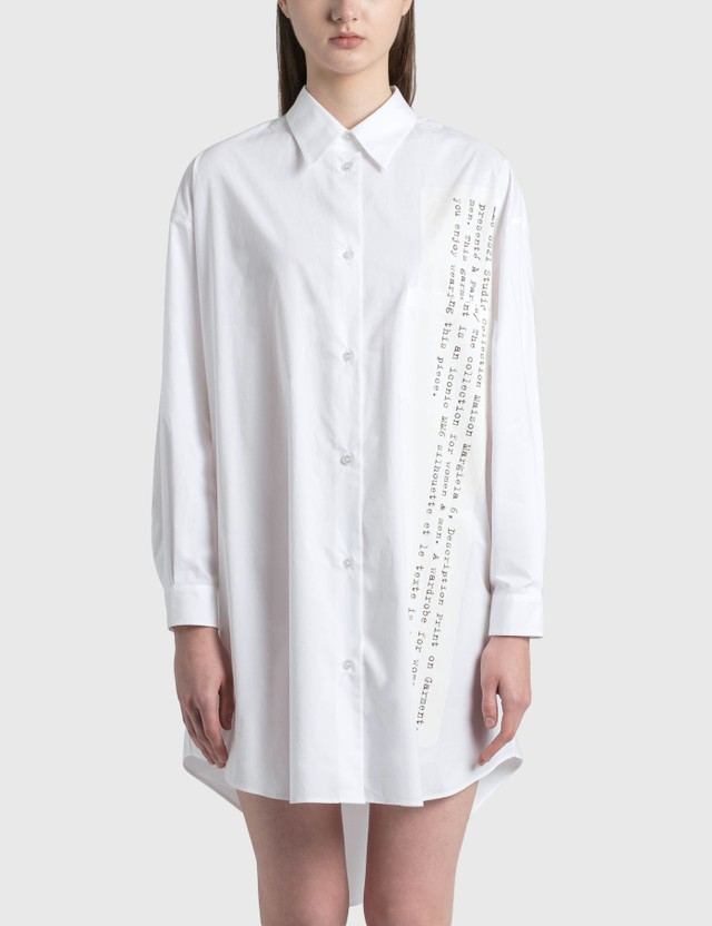 MM6 Maison Margiela Poplin Cotton Oversized Shirt White Women