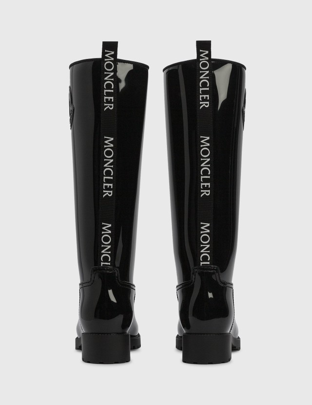 Moncler Ginger Rain Boots Black Women