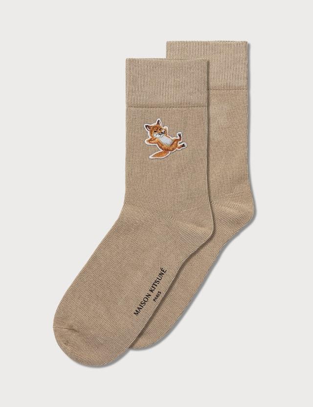 Maison Kitsune Chillax Fox Patch Socks