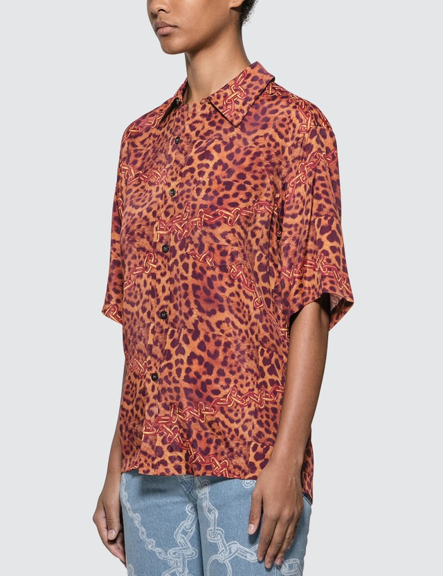 Aries Leopard Chains Hawaiian Shirt Leopard Women