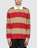 Stussy Ralphie Stirpe L/S Rugby Picture