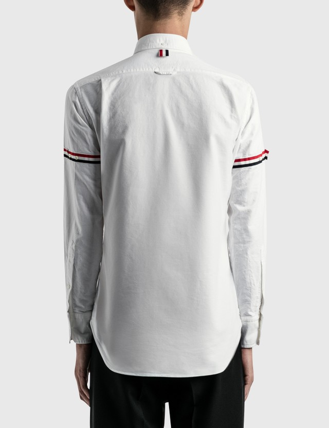Thom Browne RWB Stripe Oxford Shirt White Men