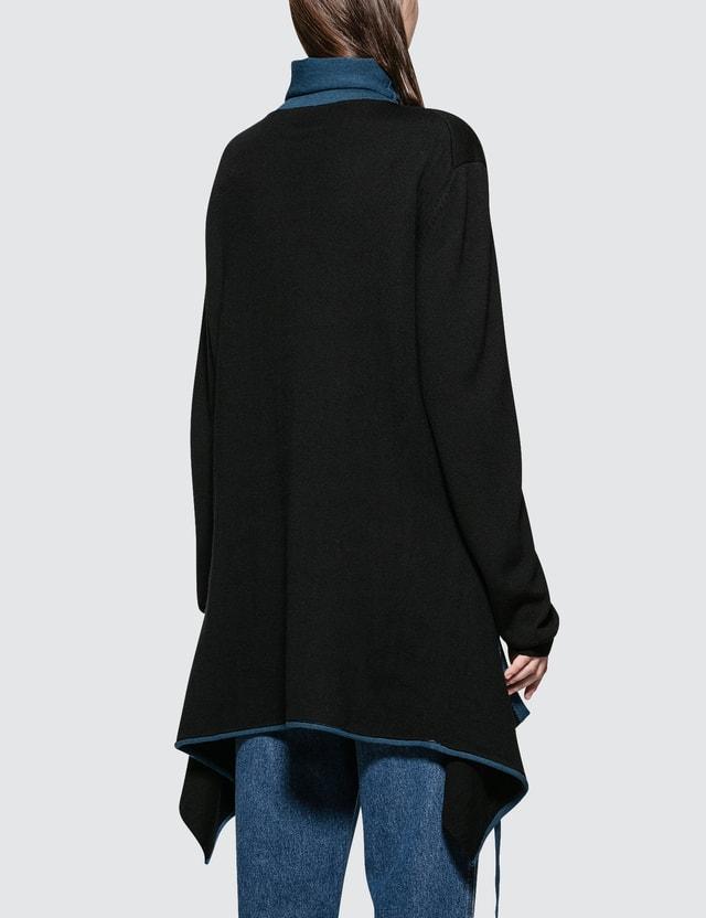 Loewe Roll Neck Color-block Sweater