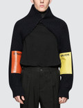 Raf Simons Knitted Sleeves With Patches Picutre