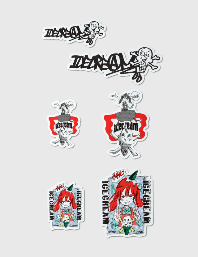 Icecream Icecream × Jun Inagawa Sticker Pack Multicolor Unisex