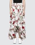 Alexander McQueen Floral Skirt Picutre