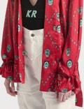 Kirin All Over Masks Fluid Kimono Red Mint Women