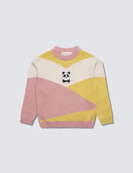 Mini Rodini Panda Knitted Wool Pullover