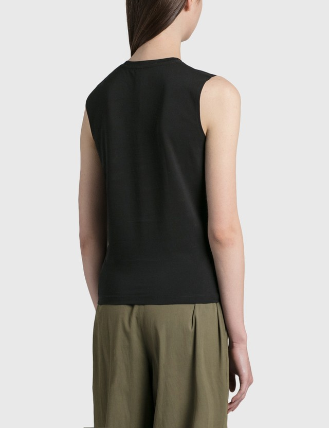Dion Lee Crystal Logo Tank Black Women